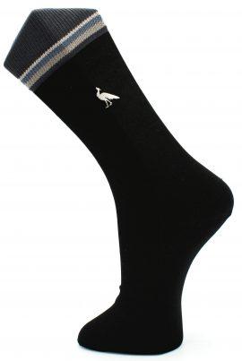 Effio-business-sokken-Peacock-zwart-grijs
