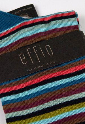 Effio-Gestreepte-Blauwe-Heren-Sokken-Uniform 064
