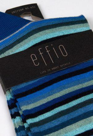 Effio-Gestreepte-Blauwe-Heren-Sokken-Uniform 631