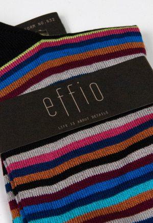 Effio-Gestreepte-Zwarte-Heren-Sokken-Uniform 632