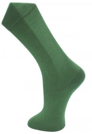 Effio effen donkergroene sokken Solid 0021