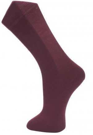 Effio effen bordeaux rode sokken Solid 0022