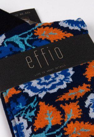 Effio-Bloemen-Oranje-Sokken-Rose-624