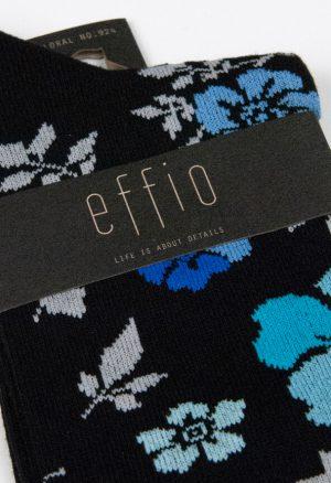 Effio-Bloemen-Zwarte-Sokken-Floral-924