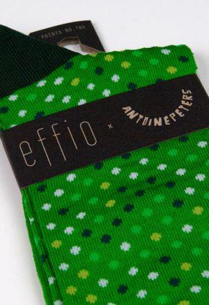 Effio-Design-Heren-Groene-Sokken-Points-704