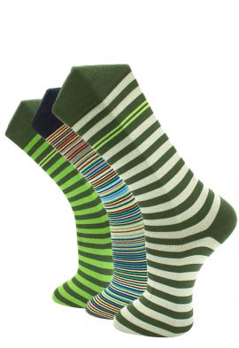 Effio 3Pack Green Stripes