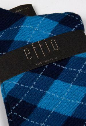 Effio-Geruite-Blauwe-Sokken-Diamond 0023