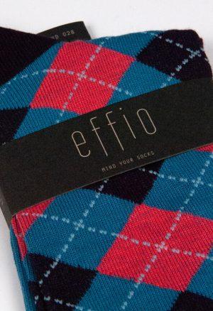 Effio-Geruite-Bruine-Sokken-Diamond 0028