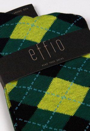 Effio-Geruite-Groene-Sokken-Diamond 0024