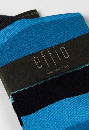 Effio-Gestreepte-Blauwe-Sokken-Big Stripe 0035