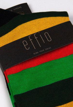 Effio-Gestreepte-Groene-Sokken-Big Stripe 0036