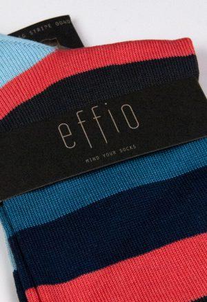 Effio-Gestreepte-Oranje-Sokken-Big Stripe 0040