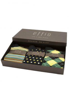 Effio Giftbox Heren Sokken Havana