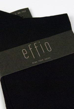Effio-Effen-Heren-Sokken-zwart Solid 502
