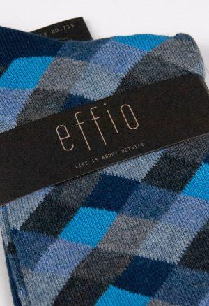 Effio-Geruite-Heren-Sokken-Check 713