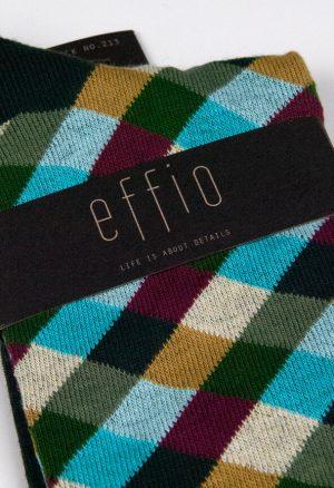 Effio-Geruite-Heren-Sokken-Check 213