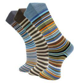 3Pack Beautiful striped effio socks