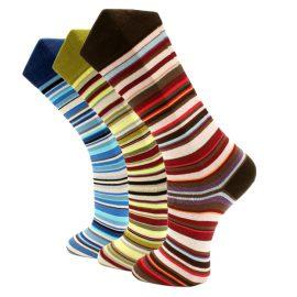 3Pack Stylish striped effio socks