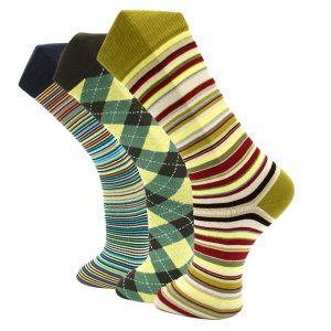 3Pack United Yellow Effio Socks