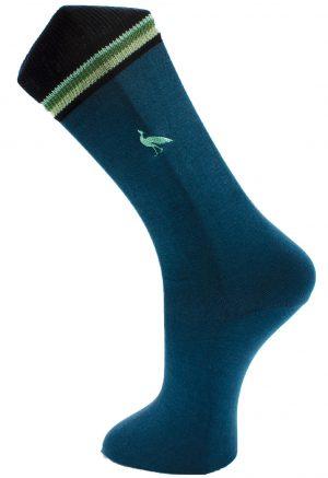 Effio-Heren-Design-Sokken-Peacock borduur blauw grijs