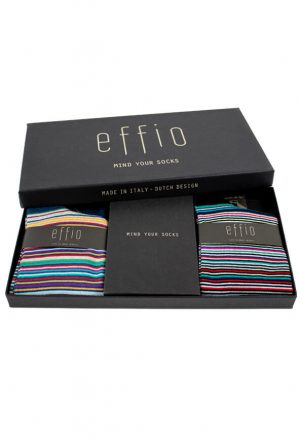 Giftbox Stripes Effio Heren Sokken